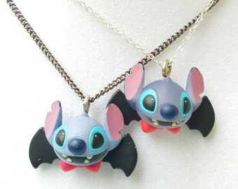 Halloween Jewelry, Whimsical Necklace, Stitch Dracula, You choose,  Disney Jewelry by LetMeBe
