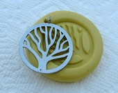 Tree of Life circle Flexible silicone push mold for cake decor, jewelry making, kawaii, resin mold, scrapbooking, wax mold, soap making