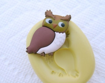 OWL Silicone Mold Flexible push mold for any crafts, jewelry making, FIMO, Sculpey, wax, soap..