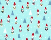 Many Mini Gnomes on Blue from Miller Miller's Holiday Collection