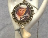 Mrs. White Clue 1970s re-purposed necklace with custom gift box FLAT RATE SHIPPING