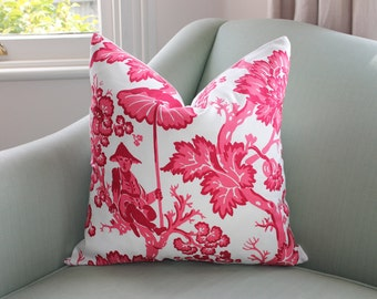 Bailey & Griffin Chinoiserie Paradise Toile Pillow Cover 18 Inch
