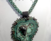 Africana  created by Lynn Parpard One of a Kind Art Piece, Candelaria Turquoise necklace