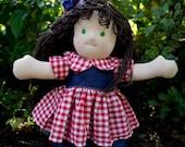 Amelia, 16 inch Handmade Waldorf Style Doll, Australian Made