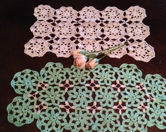 Set of 2 Vintage Crocheted Doilies