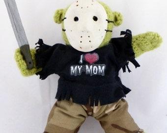 Crocheted BareFoot Zombie™ Doll 'Jason'
