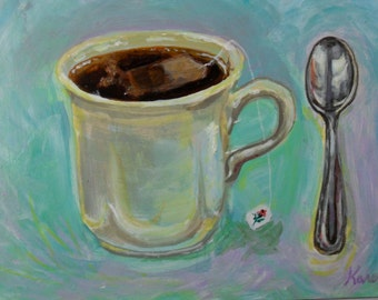 Still Life Painting Cup of Tea