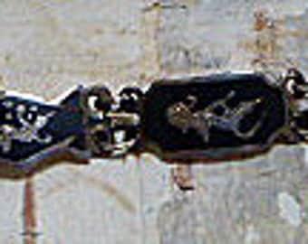 Vintage Siam Sterling Niello Link Bracelet - 2