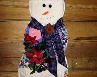 Antique Quilt Snowman Wall or Door Hanging
