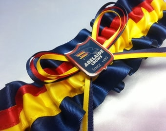 Adelaide crows etsy adelaide crows themed wedding garter football garter navy and gold navy and yellow junglespirit Images
