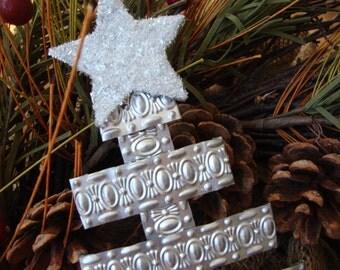Handmade Original Folk Art Tin Christmas Tree