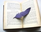La Pluma-Feather-Leather Bookmark-Handmade-Original Design