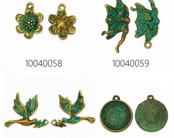 20PCS zinc alloy patina charms patina beads for jewelry 100400