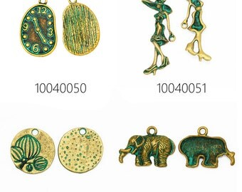 20PCS zinc alloy patina charms patina beads for jewelry 100400