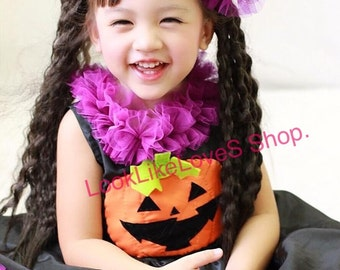 Halloween Baby Girl Toddler, Halloween dress, Kids Halloween costume, Pumpkin dress, pumpkin headband Sz 1T, 2T, 3T, 4T, 5T