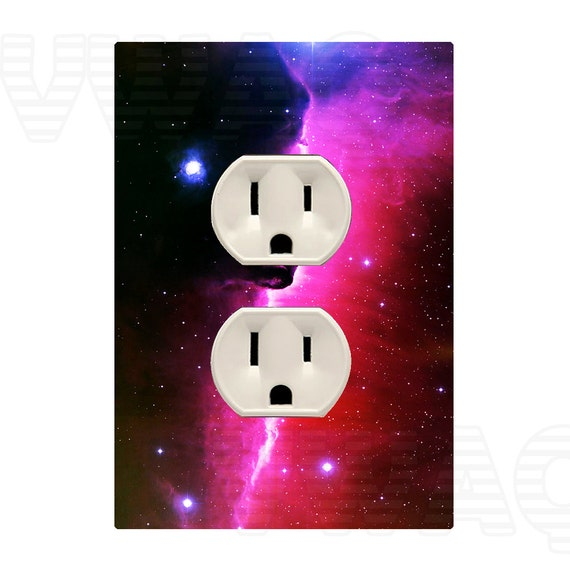 Outer space wall decal cover skin sticker colorful electrical for Outer space vinyl wall decals