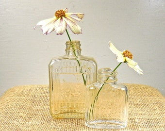 Old Glass Bottles, Bottle Collection, Two Old Cosmetic Bottles
