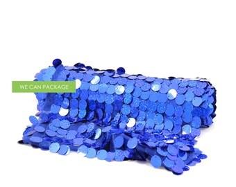 "SALE: ROYAL BLUE Confetti Table Runner 12"" x 108"""
