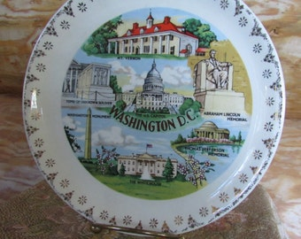Washington DC Souvenir Plate