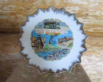 California San Francisco Souvenir Plate