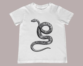 Vintage Snake Engraving Youth TShirt - Sizes infant to youth XL
