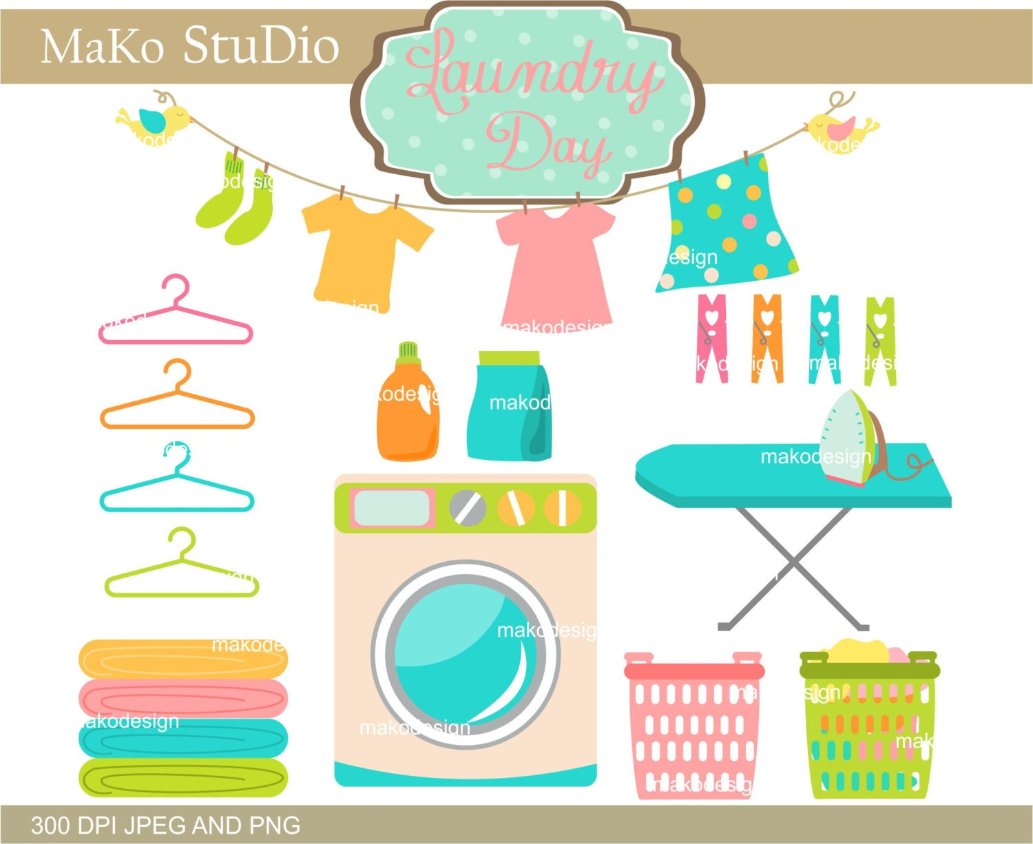 Clip Art Laundry Clip Art laundry clipart etsy clip art cute set png jpeg personal or commercial use