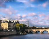 Paris Landscape, Eiffel Tower, France Photography, Cloud Photo, Morning Sunrise, Paris Architecture, French Decor, Fine Art Photography