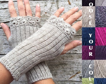 Fingerless gloves made to order, choose your color