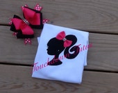 Barbie silhouette top with bow