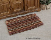 Country Kitchen Rug in 1:12 Scale for Dollhouse Miniature Cottage or Cabin Fall Decor