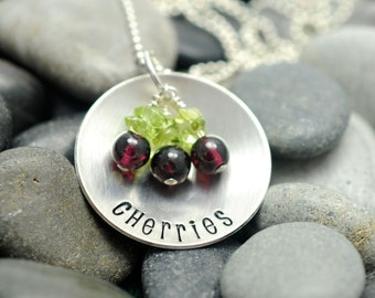 Life is Just a Bowl of Cherries  - Sterling Silver Necklace