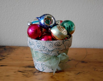 Vintage Lot of Christmas Bulbs, Mercury Christmas Tree Ornaments, Glass Christmas Bulbs from The Eclectic Interior