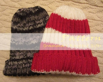 Albert's Cuffed-Ribbed Hat Knitting Pattern
