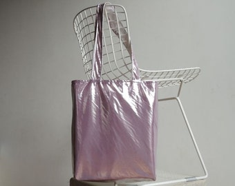 Metallic Lilac or Pink Tote Bag