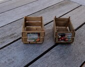 Dollhouse miniature wooden crate