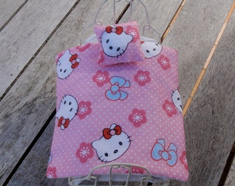 Dollhouse bedding or bedspread for children and one pillow