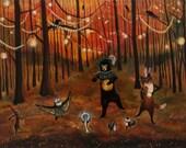 Print // Autumn Splendor // Woodland // Nursery Decor // Fall art // Halloween // Woodland Nursery