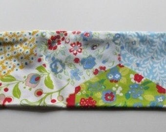 Knitting Needle Case in Patchwork Print Fabric