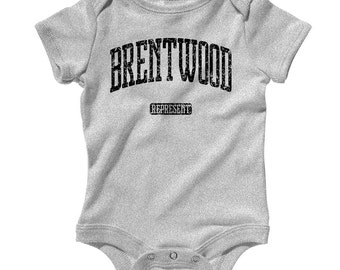 Baby Brentwood Represent Romper - Infant One Piece - NB 6m 12m 18m 24m - Brentwood Baby, California, Missouri - 3 Colors