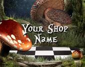 Custom Etsy Shop Banner Set (Pre-made) - Wonderland 2