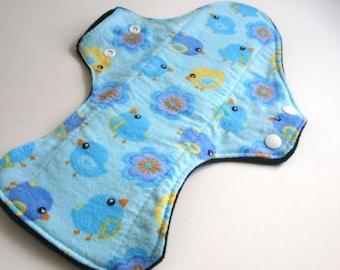 """Reusable Cloth Pad 13"""" Blue Bird & Blooms"""