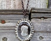 Crystal Cameo Necklace