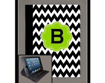 Design Your iPad Air iPad 2 iPad 3 iPad 4 iPad Mini Monogram Personalized Case Folio Cover Adjustable Angle Stand Notebook Cover