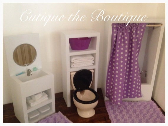 Unavailable listing on etsy for 18 doll bathroom furniture