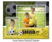 SOCCER MM3 - 8x10 Memory Mate Sports Photo Template - Digital File
