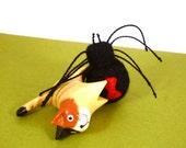 Black Widow Spider Catnip Cat Toy - Needle Felted Wool