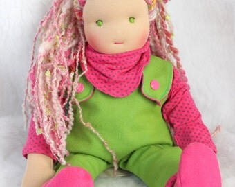 Fleur, inspired waldorf doll about 15 inches