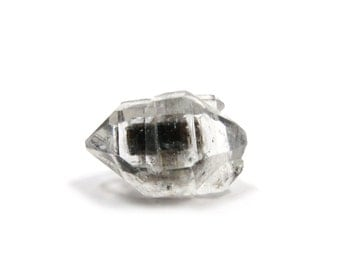 Herkimer Diamond Style Tibetan Quartz Double Terminated 1 Raw Crystal 18mm x 11mm Natural Rough Stone for Jewelry Making (Lot 9255)