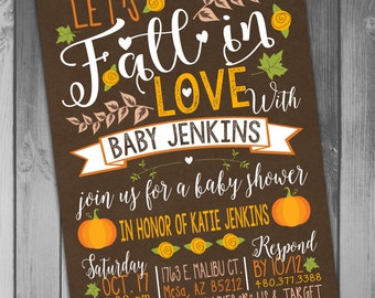 Baby Shower Fall Baby Shower Invitation Little Pumpkin Fall In Love Printable Baby Autumn Invitation Fall Invitation Baby Boy Baby Girl