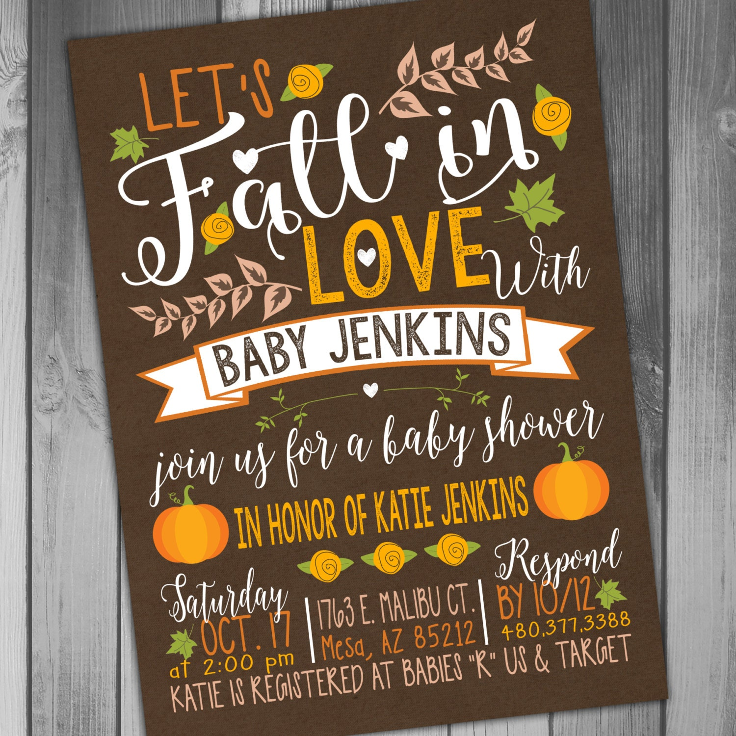fall baby shower invitations fall baby shower thanksgiving